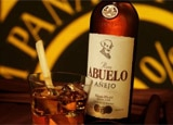 A bottle of Ron Abuelo Añejo rum