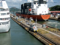 Ships on the Panama Canal