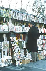 Typical sight: a book dealer