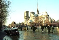 Notre Dame viewed from the Seine