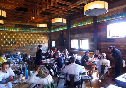 The dining room of High West Distillery & Saloon in Park City, Utah