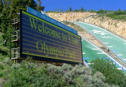 The Utah Olympic Park was built for the 2002 Winter Olympics