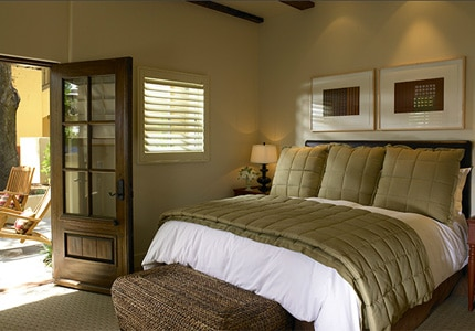 A  guestroom at Hotel Cheval in Paso Robles, California