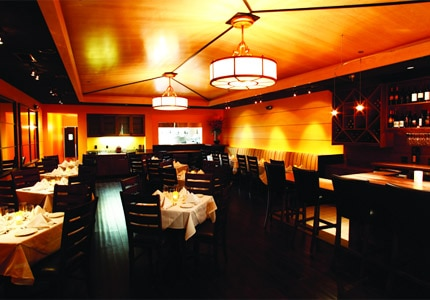 The dining room at Il Cortile Ristorante in Paso Robles, California