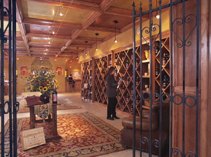 The JUSTIN Tasting Room showcases a variety of wines in Paso Robles, CA