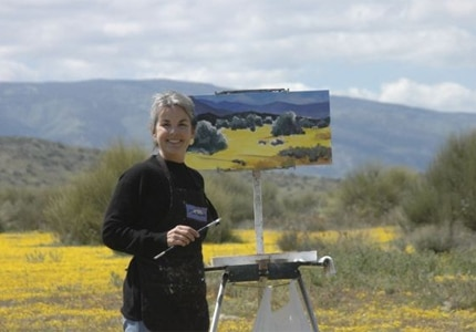 Studios on the Park founder and artist, Anne Laddon
