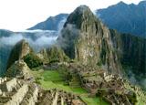 A view of Machu Pichu