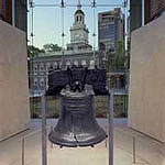 The Liberty Bell in Philadelphia, a symbol of American freedom