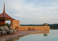 Relax by the infinity pool at Nemacolin in Farmington, PA