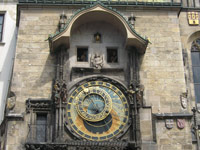 Chronus plays his naughty game every hour on Prague's famous Astronomical Clock