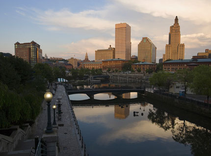 The skyline of downtown Providence in Rhode Island