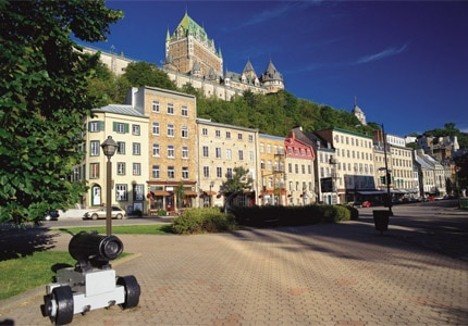 The Quartier Petit Champlain in Quebec City, Canada, houses a variety of boutiques, restaurants and bistros