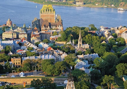 A scenic view of Quebec City