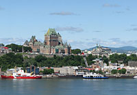 The very heart of Quebec City is the St. Lawrence River, flowing from Montreal through the Quebec-Levis, narrowing under the cliffs of Upper Town and then rushing on toward the Atlantic