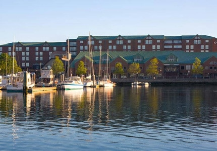 Enjoy the waterfront location of the Newport Marriott Hotel in Rhode Island