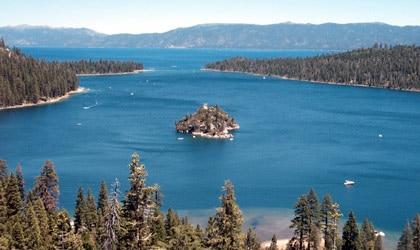 A view of Emerald Bay in Lake Tahoe