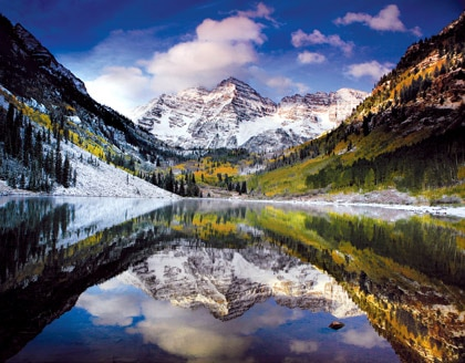 Aspen in Colorado is a great outdoorsy romantic destination, winter or summer