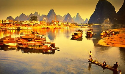 The picturesque karst peaks of China's Guangxi Province, one of GAYOT's Top 10 Romantic Destinations