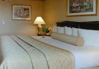 A comfortable room at the Embassy Suites Hotel Sacramento