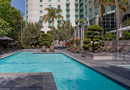 The heated pool at Hyatt Regency Sacramento in California