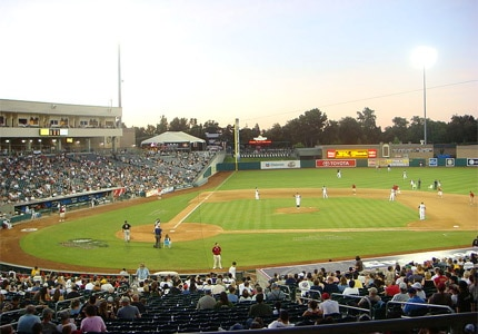 Raley Field in Sacramento, California, is home to the minor league team River Cats