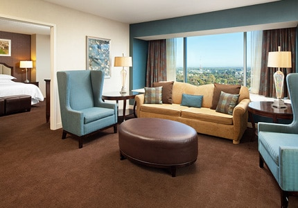 The Bay Window Suite at Sheraton Grand Sacramento in California