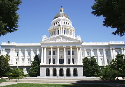 The California State Capitol in Sacramento was completed in 1874 and features turn-of-the-century architecture