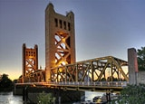 The Tower Bridge in Sacramento