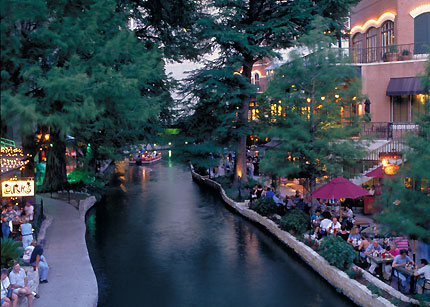 The San Antonio River Walk is a fun place to take the family