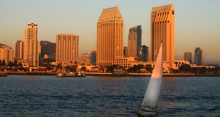 Rent a sailboat and view San Diego from the ocean