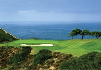 Play cliffside at the Torrey Pines Golf Course in La Jolla, CA