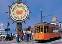 Fisherman's Wharf, where bay views, street performers and colorful characters abound