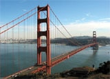The famous Golden Gate Bridge in California