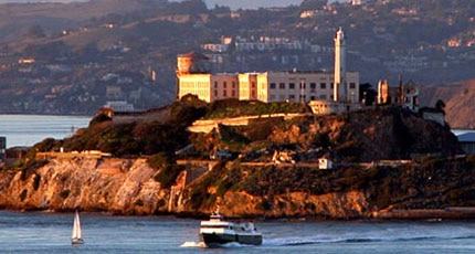 The infamous Alcatraz, located in the San Francisco Bay