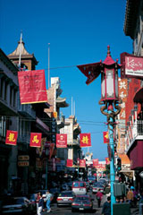 Teashops, herb pharmacies and vegetable stands line the streets in San Francisco's colorful Chinatown district