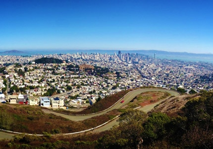 Get a stunning view of San Francisco from Twin Peaks