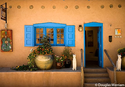One of the galleries along Canyon Road in Santa Fe, New Mexico