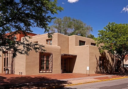 The Georgia O'Keeffe Museum in Santa Fe, New Mexico