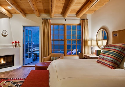 The Superior King with Balcony Room at the Rosewood Inn of the Anasazi in Santa Fe, New Mexico
