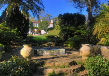 The gardens at Casa del Herrero in Santa Barbara, California