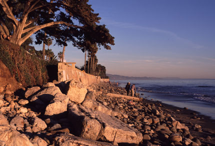 El Capitan Beach, just up the coast from Santa Barbara, is perfect for secluded strolls