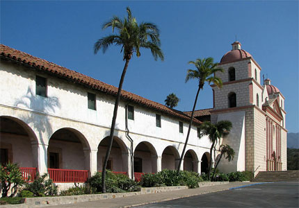 Mission Santa Barbara is one of the most beautiful and well-kept California missions