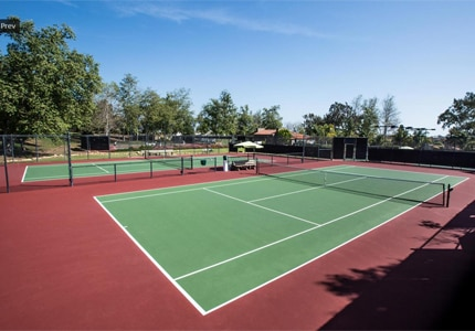 The tennis courts at the Santa Barbara Polo & Racquet Club