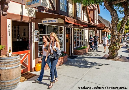Explore the boutique shops in the Danish community of Solvang, California