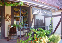 Lucas & Lewellen Vineyards' tasting room in Solvang, California