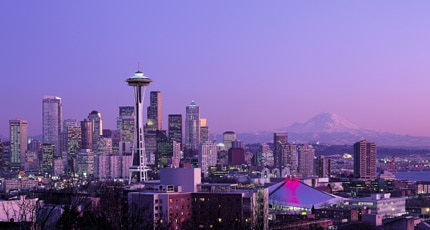 Breathtaking view of the Seattle skyline