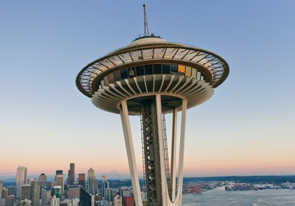 Shoot sky high in the Space Needle