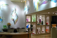 The Kuivato Glass Gallery features art glass and contemporary jewelry