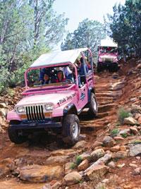 Pink Jeep Tours allow patrons to explore Red Rock Country off-road style