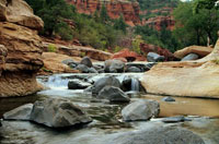 Slide Rock State Park is a family favorite with its natural rock waterslide